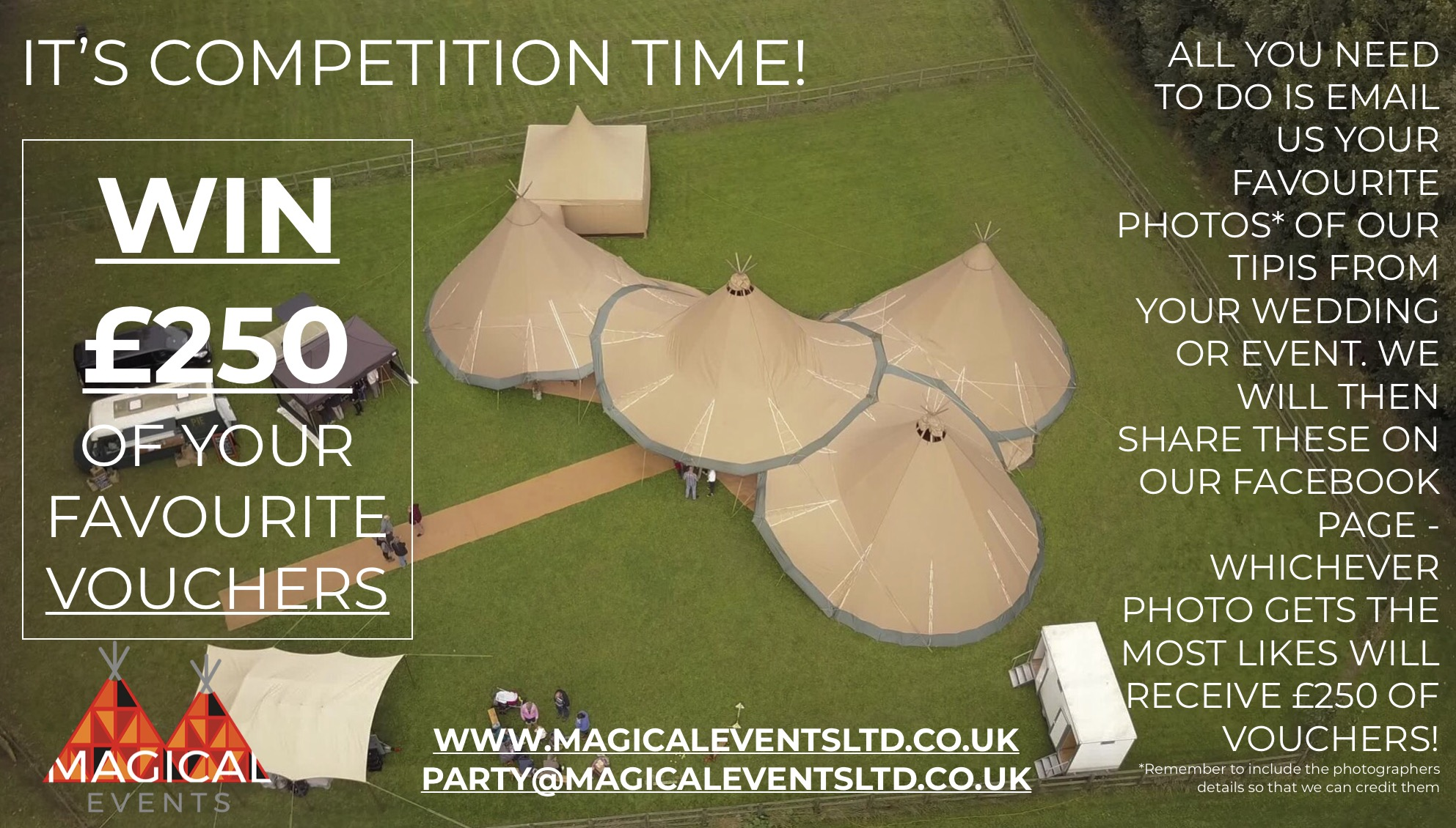 Tipi Hire Promotion