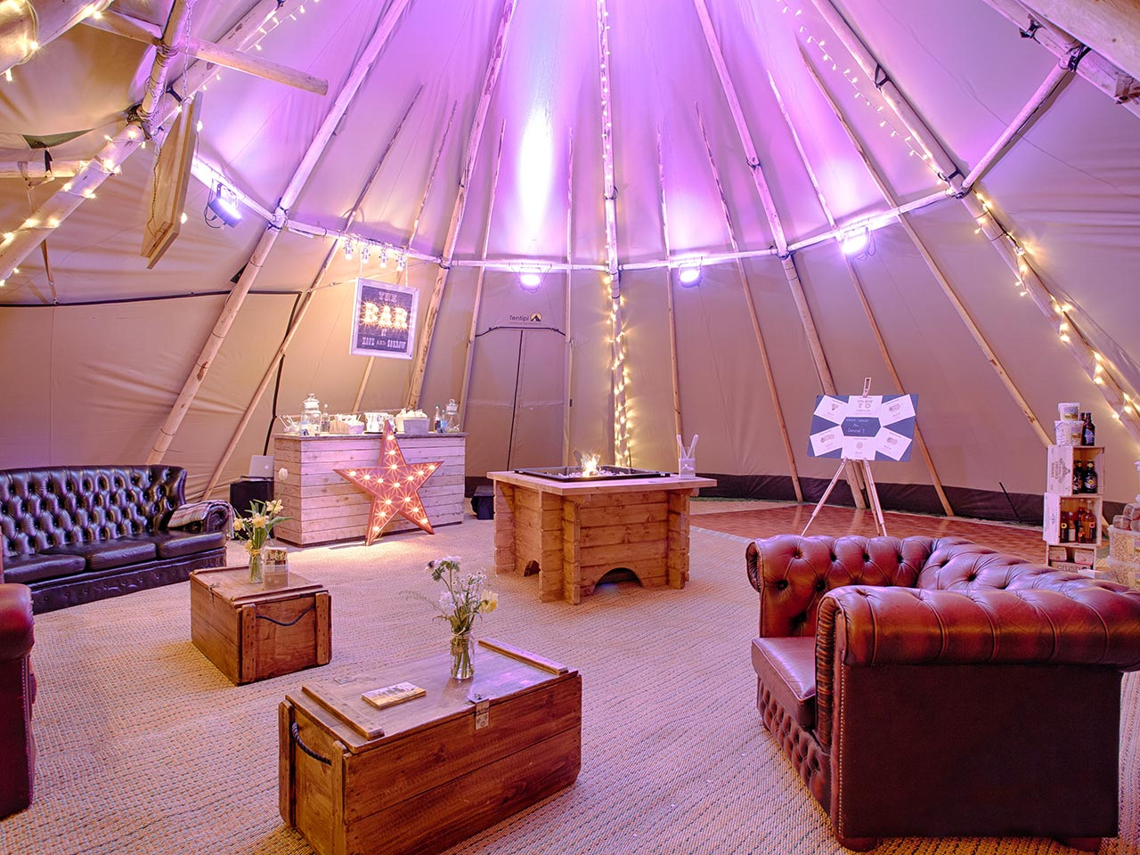 Inside One of Our Tipis
